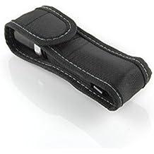 Demarkt Funda de Linterna con Tapa y Clip para Cintura Cinturón de Nylon color Negro