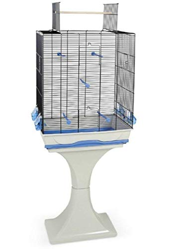 M. o.Gabbia per Uccelli Canarini Budgie con Supporto & Trespolo
