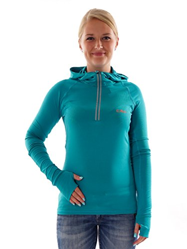 CMP Damen Fitness Sweat, lake blu, 38 Lake Hoodie Sweatshirt