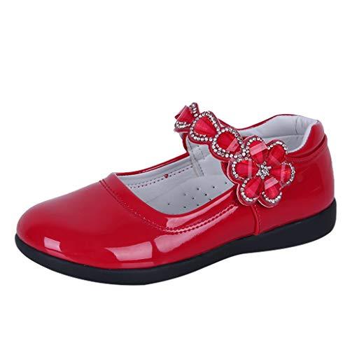 Innerternet Pumps Ballerinas Schuhe Blume Kristall Tanz Prinzessin Einzel Freizeitschuhe Prinzessin Kostüm Ballerina Festliche Mädchenschuhe Taufschuhe Schuhe mit Absatz in vielen Farben (Pferd Fee Kostüm)