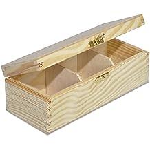 Natürliche Holzkiste Aufbewahrungskoffer für Schmuck Kleine Gadgets