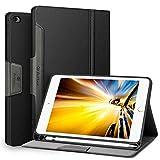 Antbox Hülle für iPad Mini 5 2019 7.9 Zoll/iPad Mini 4 mit Apple Pencil Halter Auto Schlaf/Wach Funktion PU Ledertasche Schutzhülle Smart Cover mit Stand Funktion (Schwarz)