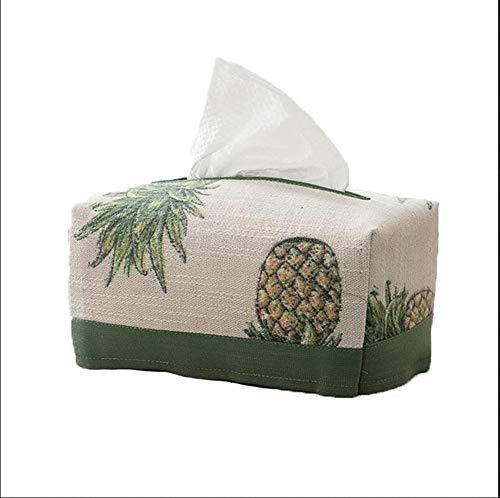 LILINA Original Pastorale Stil Gewebe Box Stoff Grüne Ananas Gewebepapier Handtuch Setzen Kleine Frische Literarische Nordische Schale