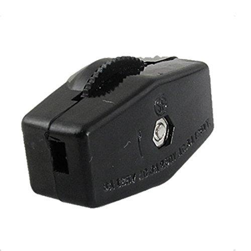 DealMux a11102500ux0053 AC 250V 3 Ampere Daumenrad Actuator Mini Ein / Aus-Lampen-Licht-Inline-Schalter (Inline-lampe Schalter)