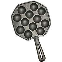 Takoyaki Pan Octopus Balls Back Maker, 12 Löcher Einfach zu Reinigen DIY Takoyaki Pan Octopus Balls Backen Maker Grill Form