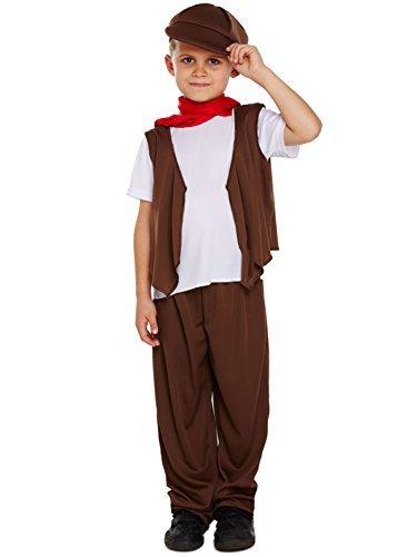 Jungen Schornsteinfeger Kostüm - braun/weiß, Large (10-12 Years) (Schornsteinfeger Kostüm Für Jungen)