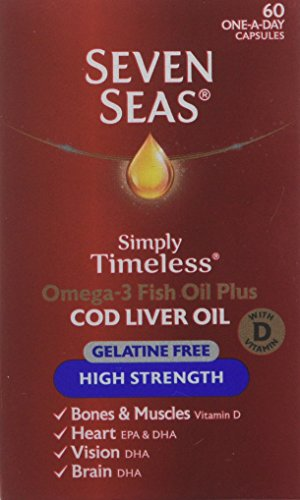 Seven Seas Omega-3 Fish Oil Plus Cod Liver Oil High Strength Gelatine Free 60 Capsules Test