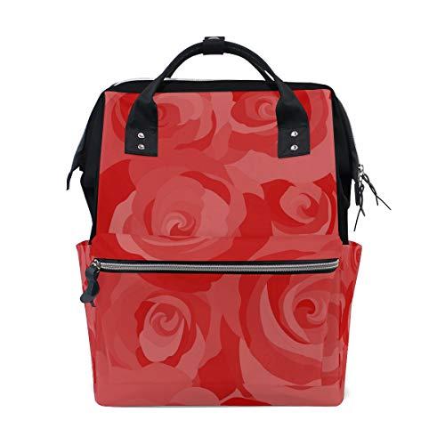 Multifunktionsrucksack Rucksack Perfect Abstract Rose Floral Rote Blume Reise Kindertagesstätte für Frauen Mädchen -