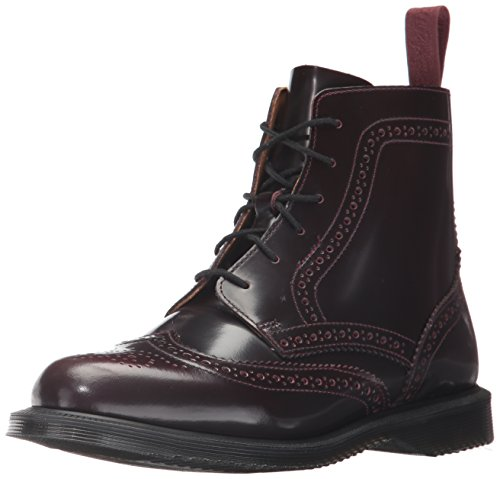 Dr.Martens Womens Delphine 6 Eyelet Cherry Red Leather Boots 39 EU