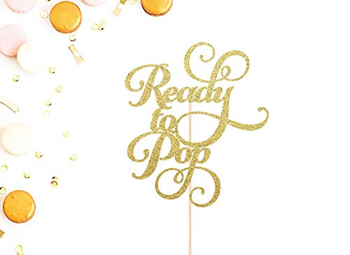 Ready To Pop Cake Topper | Baby Shower Cake Topper | Welcome Baby | It's a Boy Topper | It's a Girl Topper | Gender Reveal Party Cake Topper - Baby Shower Pops Cake