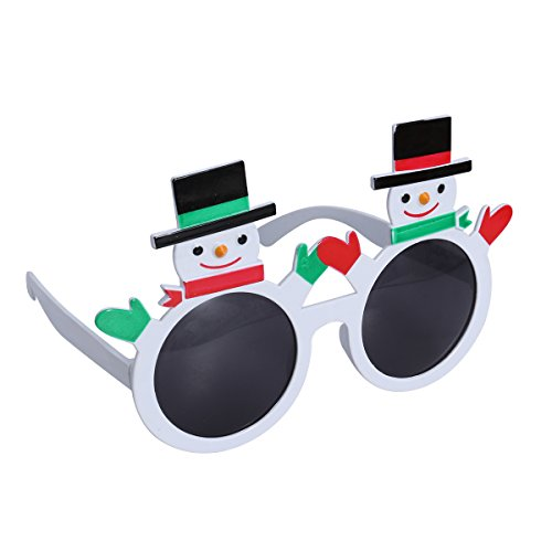 Ideen Outfit Masquerade Party (LUOEM Christmas Party Sunglasses Snowman Glasses Costume Decoration Accessories Novelty Sunglasses Party)