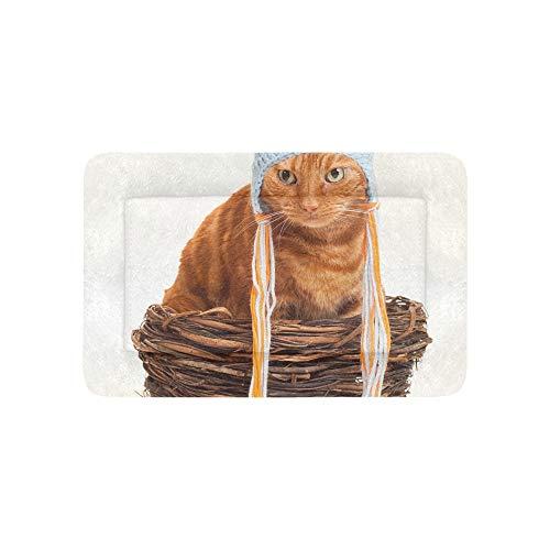 Streifen Katze Lustiger Hut Extra Große Individuell Bedruckte Bettwäsche Weiche Hundebett Couch Für Welpen Und Katzen Möbel Matte Höhlenauflage Kissenbezug Innen Geschenk Lieferanten 36 X 23 ()