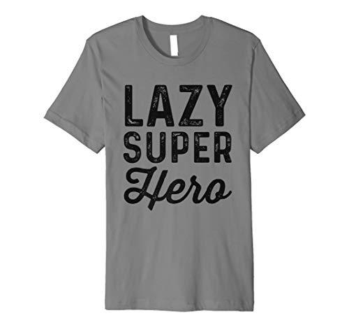 Lazy Superheld   Funny einfach Halloween-Kostüm Shirt