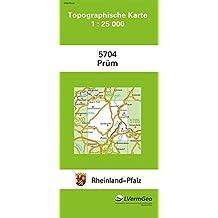 TK25 5704 Prüm: Topographische Karte 1:25000 (Topographische Karten 1:25000 (TK 25) Rheinland-Pfalz (amtlich) / Mehrfarbige Ausgabe)