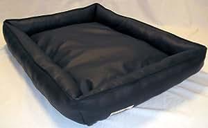 Panier pour Chien en similicuir Basso 90 cm X 70 cm noir