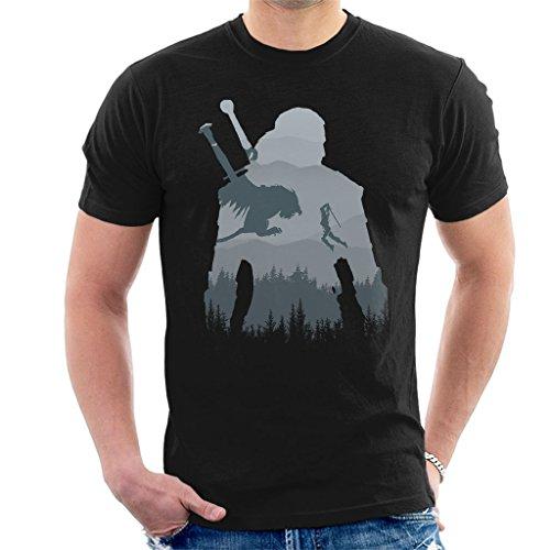 Cloud City 7 Wild Sihouette The Witcher Men's T-Shirt