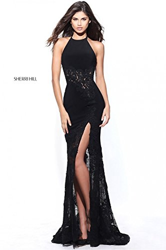 sherri-hill-black-51019-lace-reveal-leg-split-jersey-dress-uk-10-us-6