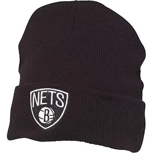 Mitchell & Ness Herren Brooklyn Nets Cuff Knit Beanie Black (One Size)