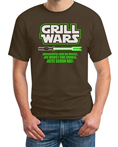 Geschenk für überirdische Grill Wars T-Shirt X-Large Braun