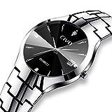 CIVO Herren Uhren Wasserdicht mit Silber Edelstahl Armband Minimalistisch Tag Datum Kalender Luxus Armbanduhr Mode Beiläufig Einfach Entwurf Klassisch Herren Analog Quarz Uhr