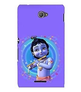 printtech Lord God Krishna Small Cartoon Back Case Cover for Sony Xperia E4 Dual::Sony Xperia E4