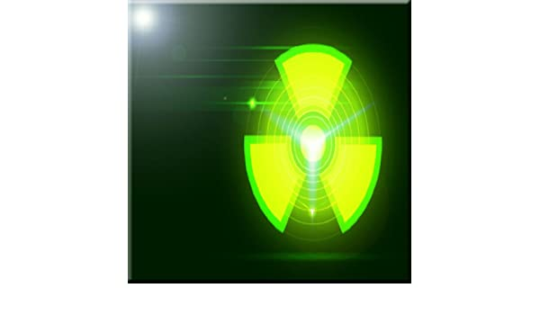 Rikki Knight Green Radioactive Danger Design Ceramic Art Tile 6 x 6