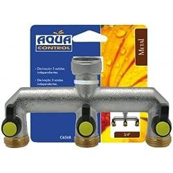 Aqua Control C6368 - Derivación con 3 salidas independientes en Fabricado en Italia en bronce de 1ª calidad.