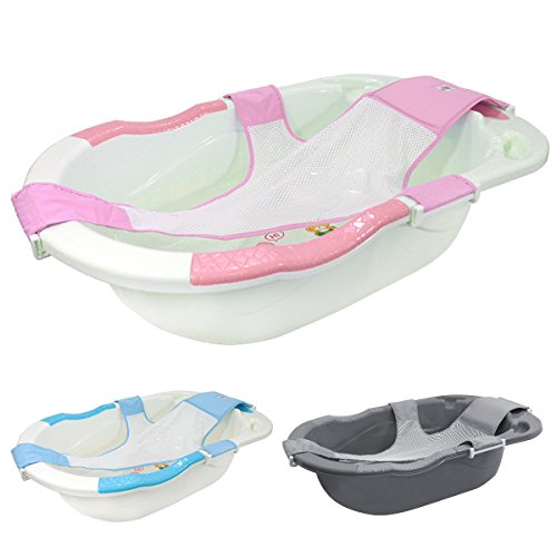 Monsieur Bébé  Baignoire bébé évolutive avec hamac de bain + grip + vidange - Trois coloris - Norme XP 54-044