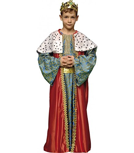 Imagen de disfraz de rey mago rojo para niños en varias tallas