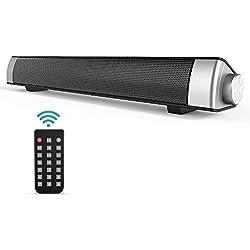 Lautsprecher TV Soundbar, GIARIDE Bluetooth 4.1 Haut-Parleur Filaire et sans Fil Speaker stéréo HD Audio avec Télécommande, Prise auxiliaire 3,5 mm, Emplacement pour Carte TF pour PC, téléphone