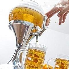 Idea Regalo - Il nuovo Beer Dispenser spillatore da tavolo di birra fresca alla spina da 3,5 litri senza BPA distributore con vaschetta per il ghiaccio per bibite e bevande fresche giraffa torre caraffa 0059