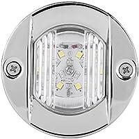 Luces LED de navegación para barco de 12 V, impermeables, luces traseras de yate, luz blanca de acero inoxidable para navegación, luces de señal, luces LED para barcos