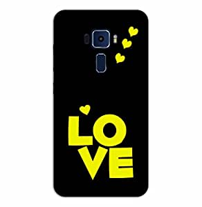 Happoz ASUS Zenfone 3 Deluxe (ZS570KL) Cases Back Cover Mobile Pouches Shell Hard Plastic Graphic Armour Premium Printed Designer Cartoon Girl 3D Funky Fancy Slim Graffiti Imported Cute Colurful Stylish Boys D231