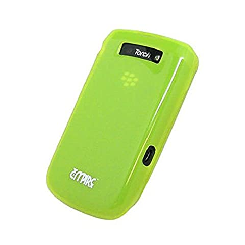 EMPIRE Neon Green Cover Skin Poly Case for Blackberry Torch 9800