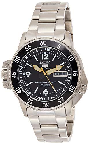 Seiko SKZ211K1 5 Diver's - Reloj para Hombre, automático, analógico, Esfera Negra, Correa de Acero...