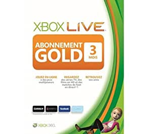 microsoft carte d 39 abonnement xbox live gold 3 mois. Black Bedroom Furniture Sets. Home Design Ideas