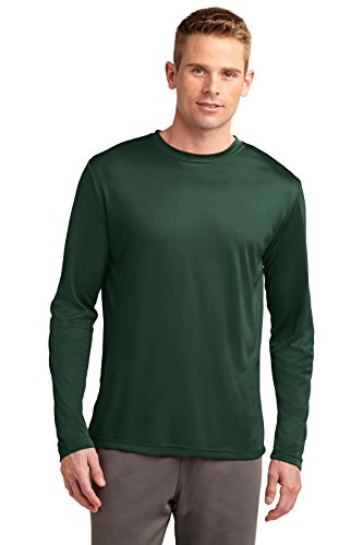 Sport-Tek® Long Sleeve PosiCharge® Competitor™ Tee. ST350LS Forest Green M