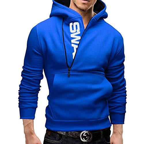 YAN-xUE Men ' S Sweatshirt, Casual Hood Sweatshirt Active Long Sleeve Hoodie with Pockets Color Block Hooded Dark Gray 4XL Fall Winter,3,XL Block Hood