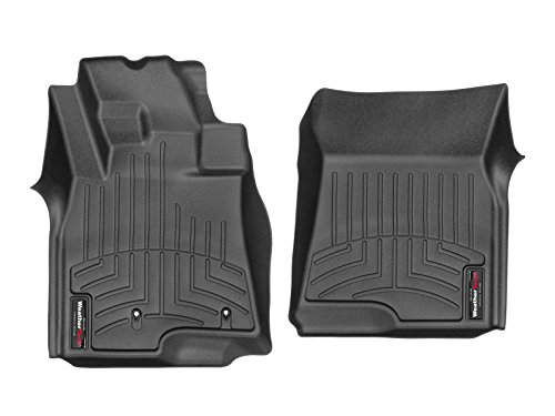 WeatherTech Tappetino su Misura Compatibile per Mitsubishi Pajero 4°Gen 3 Porte 2007/18|Nero|1° Fila FloorLiner