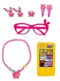 #3: Baal Kids Girls Accessories Set 1 Necklace 1 Puzzles 2 Butterflies Rubber Bands 1 Butterfly Rings 2 Butterflies Hair Clip and 1 Funky Glasses for Your Little Angel, Pink 25 Grams, Pack of 1