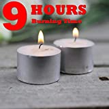 Ein Sof Tealight Candles 100% Pure Wax, Unscented, Pack of 50, Guaranteed 9 Hours Burning time, White Unscented Tea Light Candles