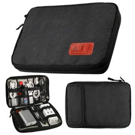 AMSTRONG Schwarz Elektronik Zubehör Aufbewahrungstasche Travel Organizer Kabel für Flash-Disk, USB, IPad Mini 4, Wasserdicht (Tuch, Ipad Tasche)