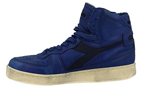 Diadora Getragene Schuhe 158569-786 Blue Basket Blau