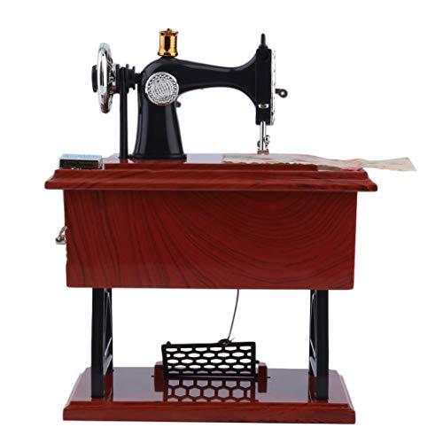 Togames-ES Mini Antique Look Máquina Coser Caja música