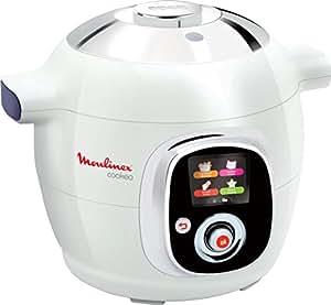 Moulinex CE705100 Multicuiseur Intelligent Cookeo avec Couvercle de Conservation Blanc