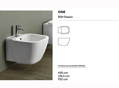 Rak Wall toilets and bidet One white wall bidet ONBI00002