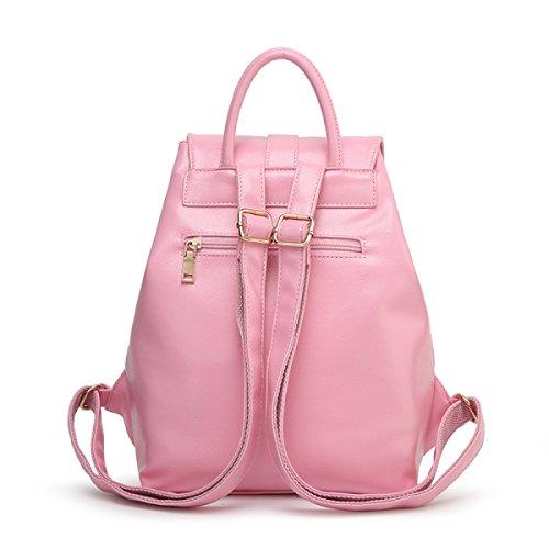Donne Di Svago Multifunzionale Zaino Dell'unità Di Elaborazione Mini Collegio Bag,Black-OneSize Pink