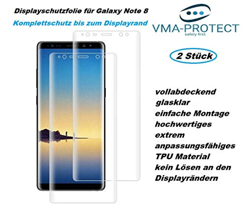 VMA-Protect 2X Displayschutz für Samsung Galaxy Note 8 Screen Protector Folie