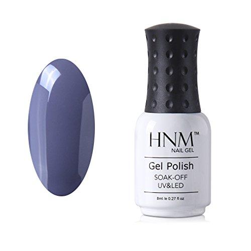 HNM Vernis à Ongles Semi Permanent Couleur Gris Magnifique pour Vos Ongles UV LED Soak off 8ml-12