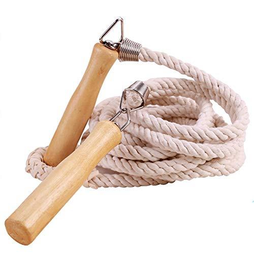 3 Mètres Corde À Sauter avec Poignée en Bois Speed Corde À Sauter pour Enfant Rope, L'entraînement Et pour Perdre du Poids Corde À Sauter Coton Et Lin
